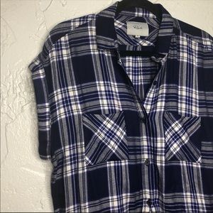 RAILS cap sleeve Britt plaid flannel 😎